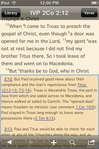 IVP Bible Background Commentary, Bible Text with Commentary in Split Screen