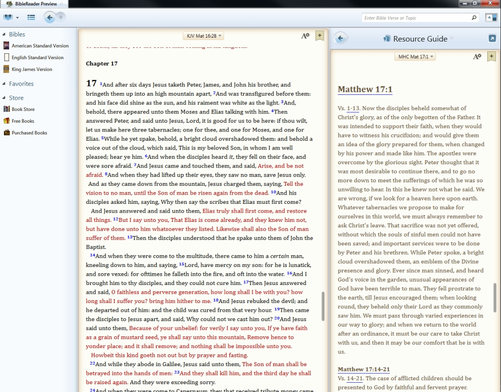 bible text pc preview