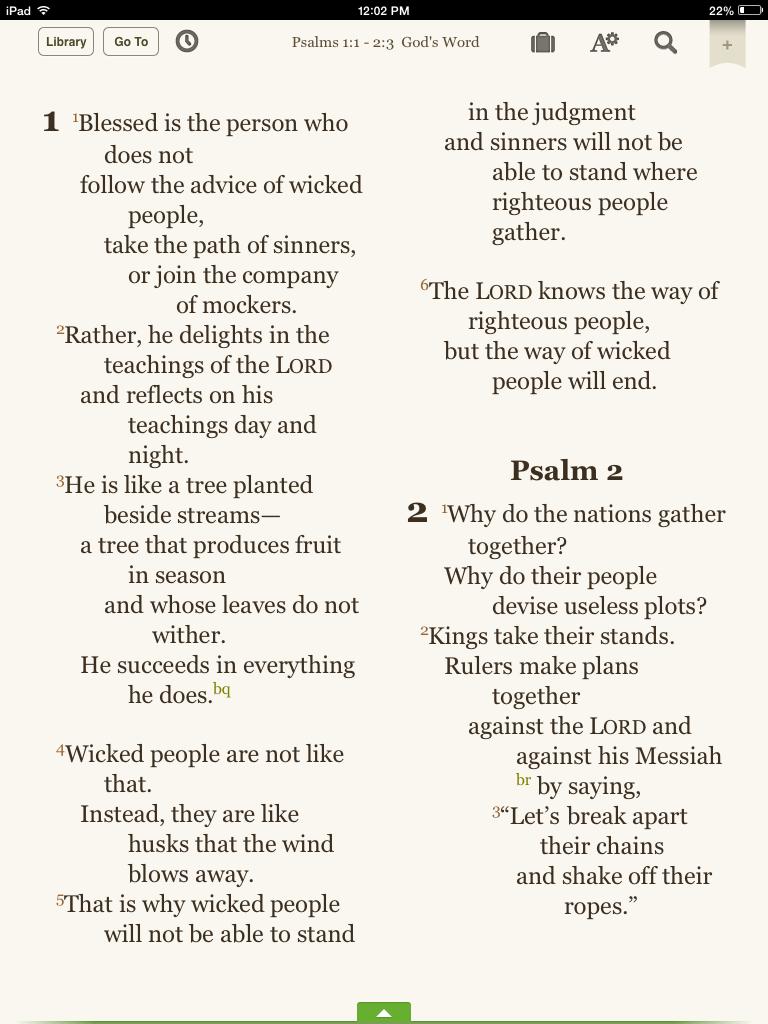 Psalms 1