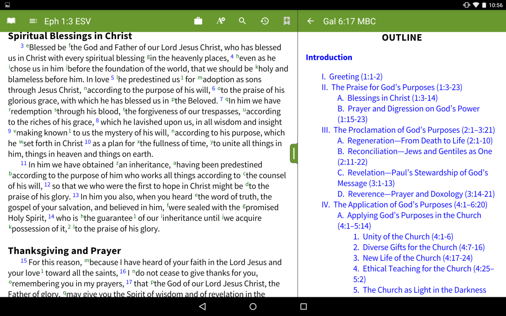 Moody Bible Commentary - Outlines