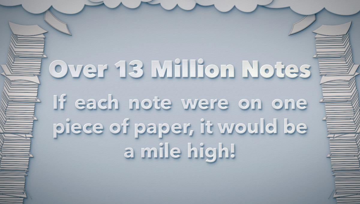 13-million-notes