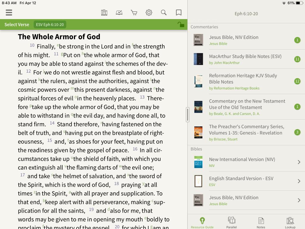 Preachers Commentary armor of God