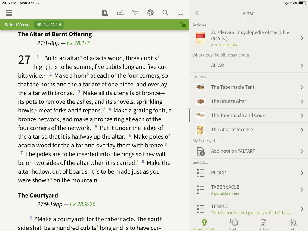 Zondervan Encyclopedia of the Bible in the Olive Tree Bible App 3