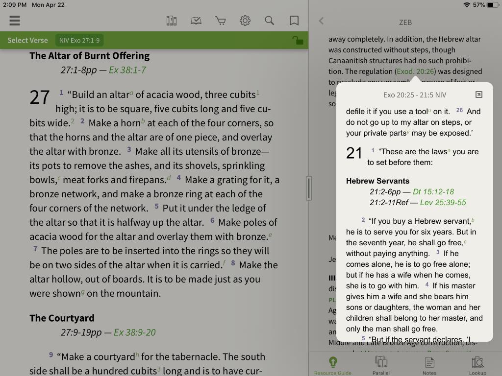 Zondervan Encyclopedia of the Bible in the Olive Tree Bible App 5