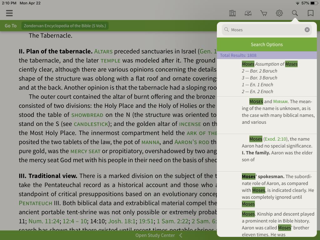 Zondervan Encyclopedia of the Bible in the Olive Tree Bible App 7