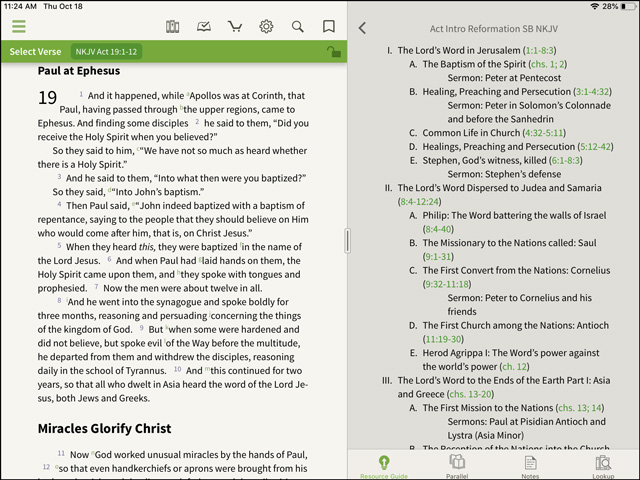 Reformation Study Bible Outlines