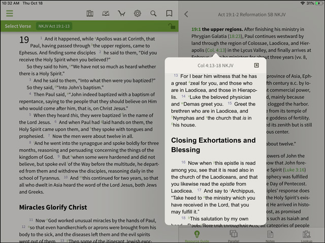 Reformation Study Bible Popup