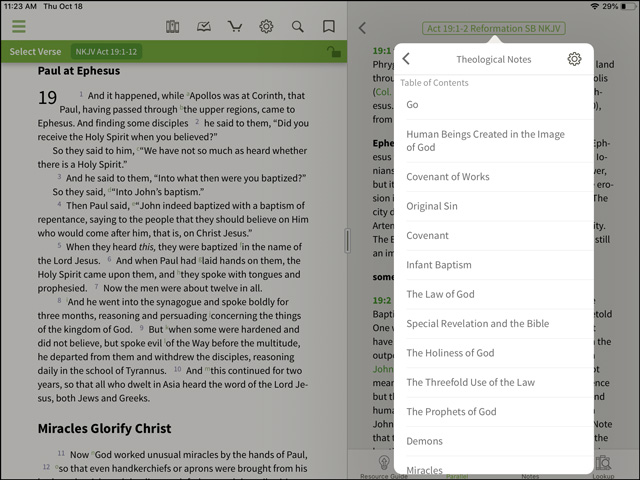 Reformation Study Bible Theological Notes