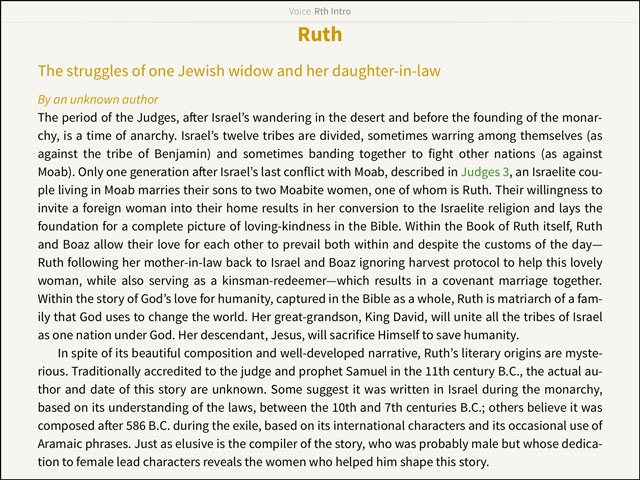 Introduction of Ruth - The Voice Bible
