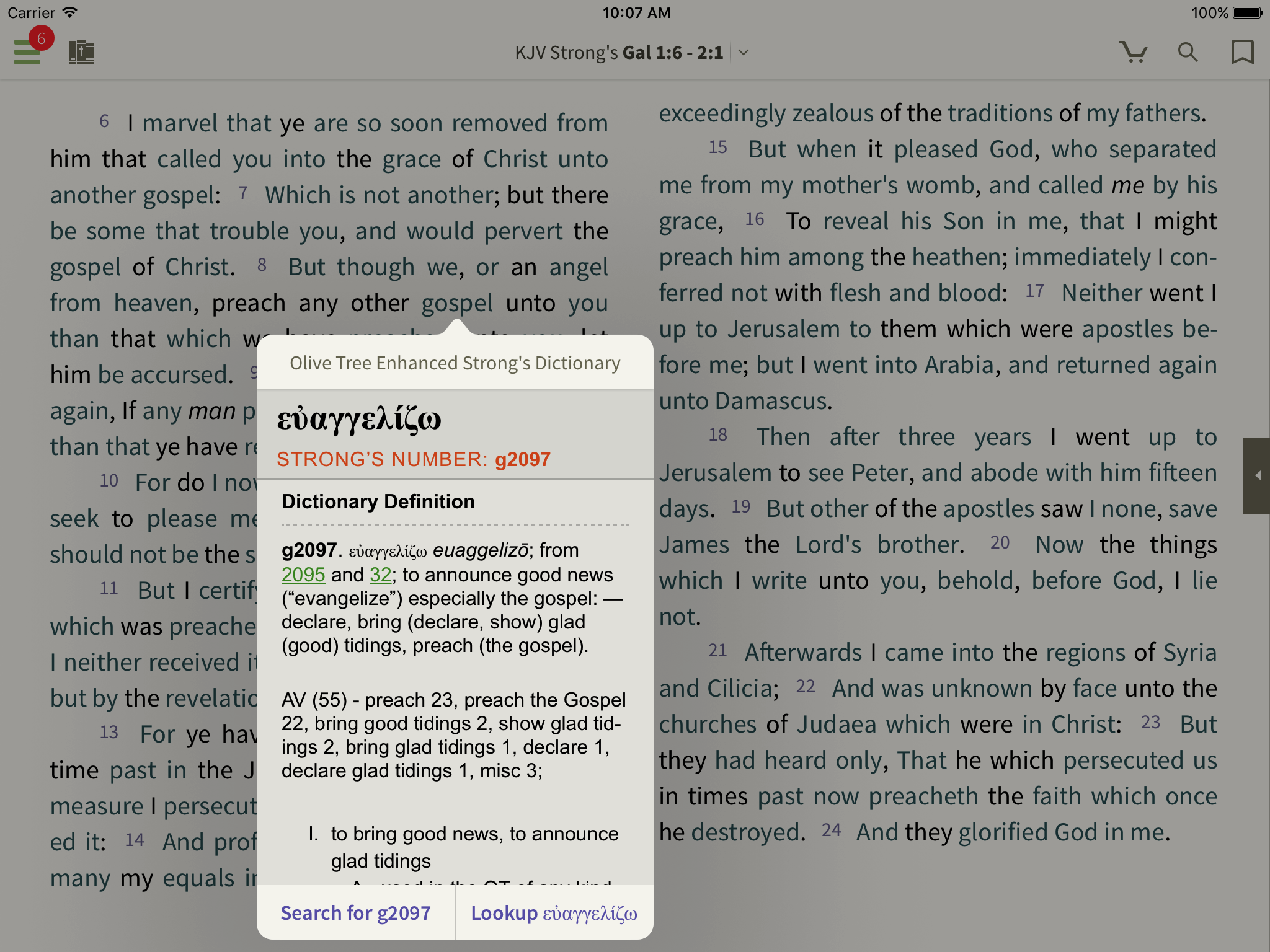 Look Inside: KJV Word Study Bible - Olive Tree Blog