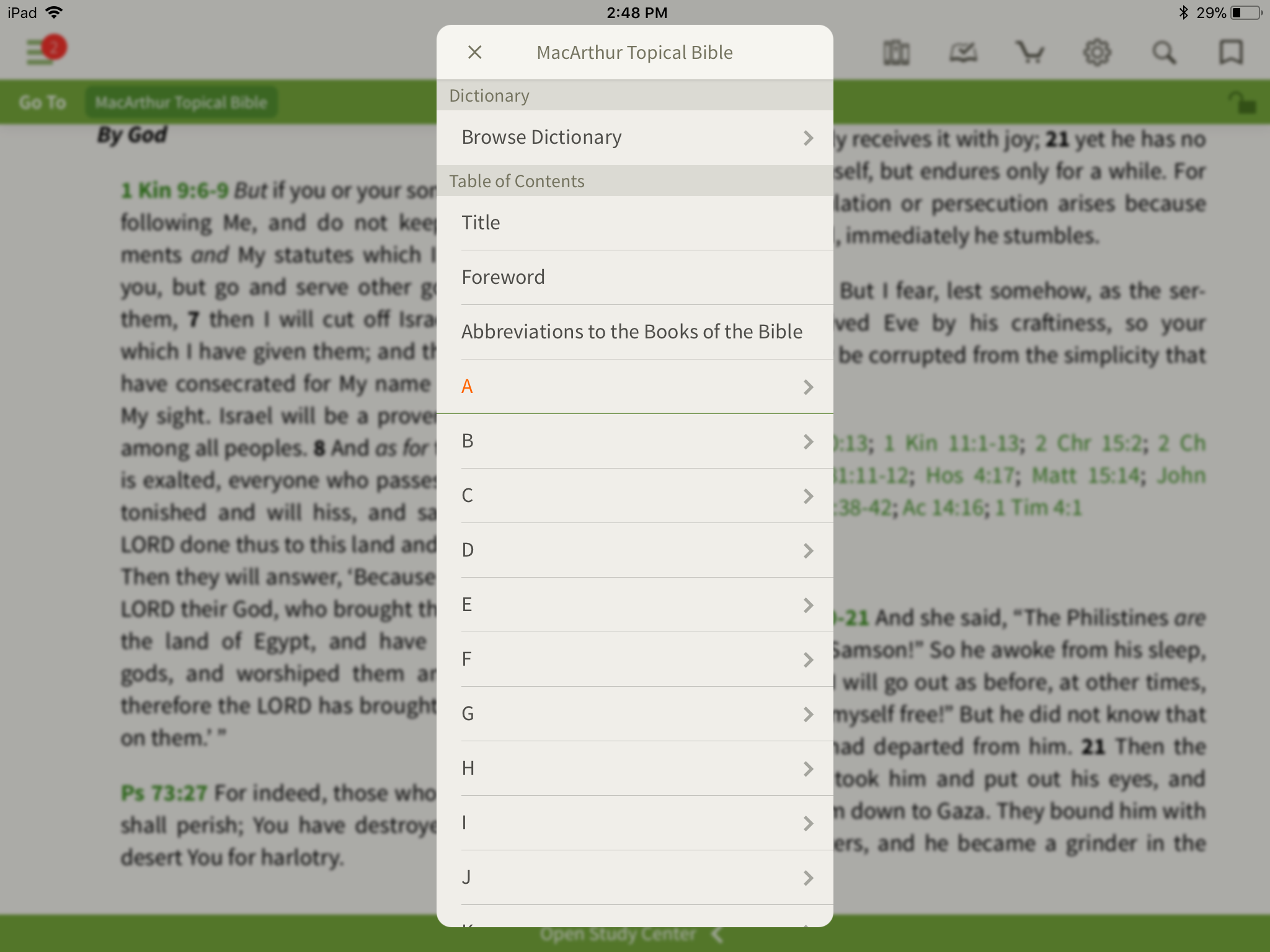 What's a Topical Bible? - Olive Tree Blog