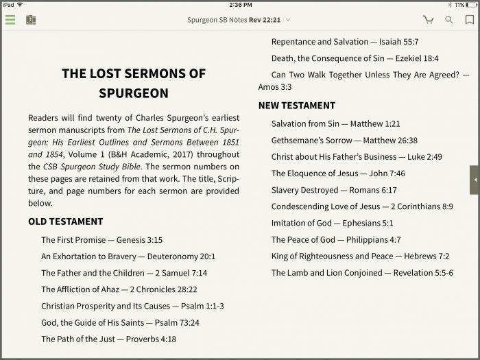 spurgeon-lost sermons - Olive Tree Blog