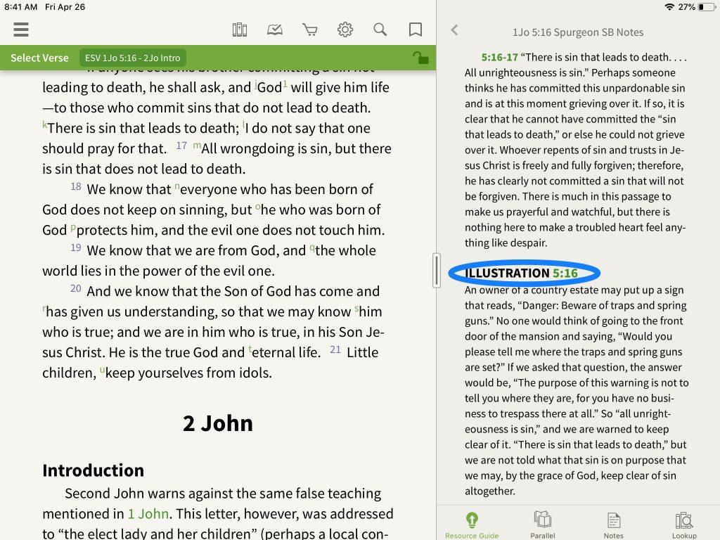 Spurgeon Study Bible Illustration