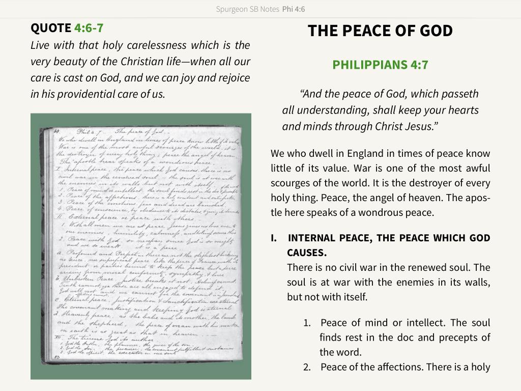 Spurgeon Study Bible lost sermons