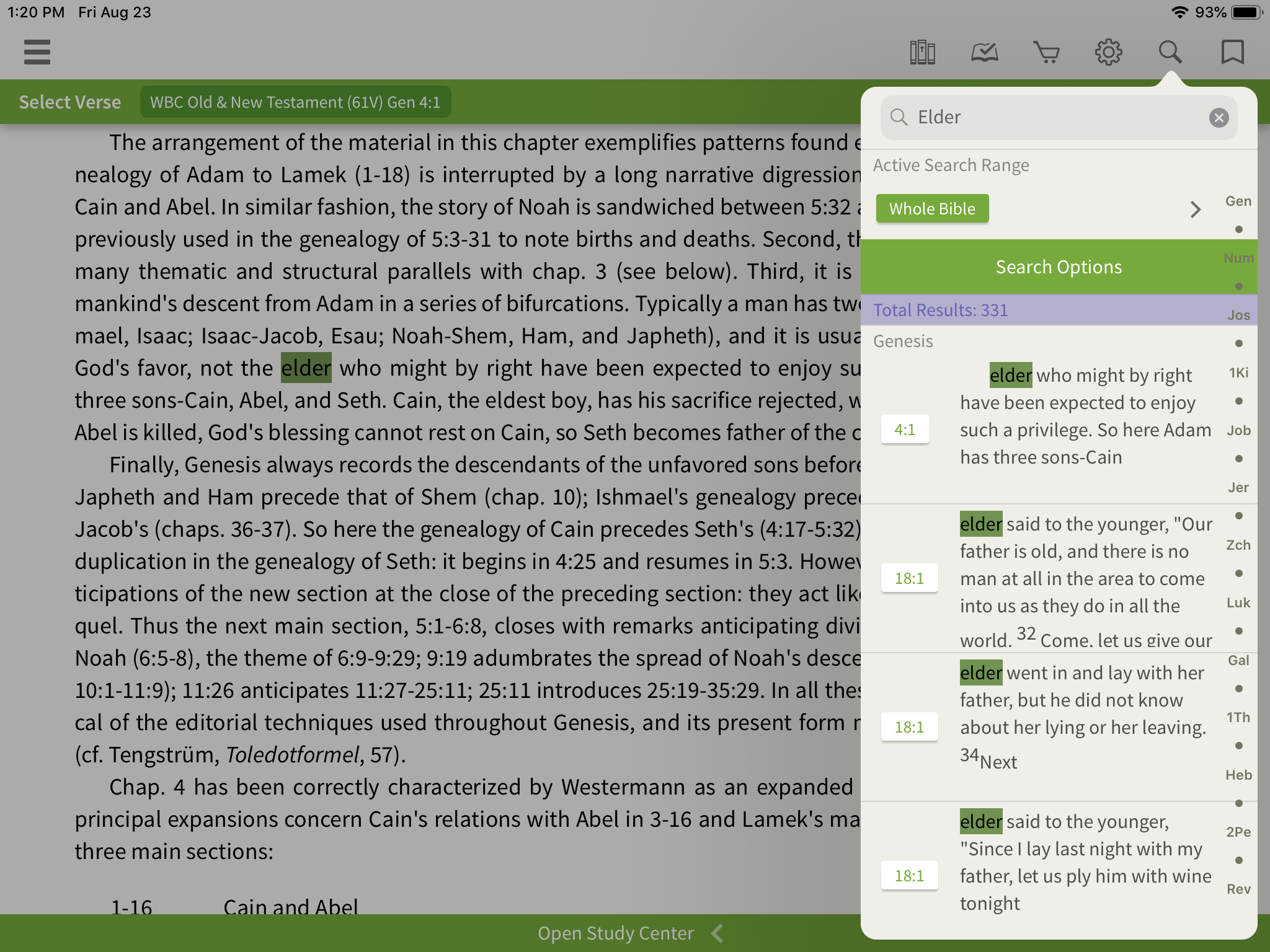 Searching in the Word Biblical Commentary