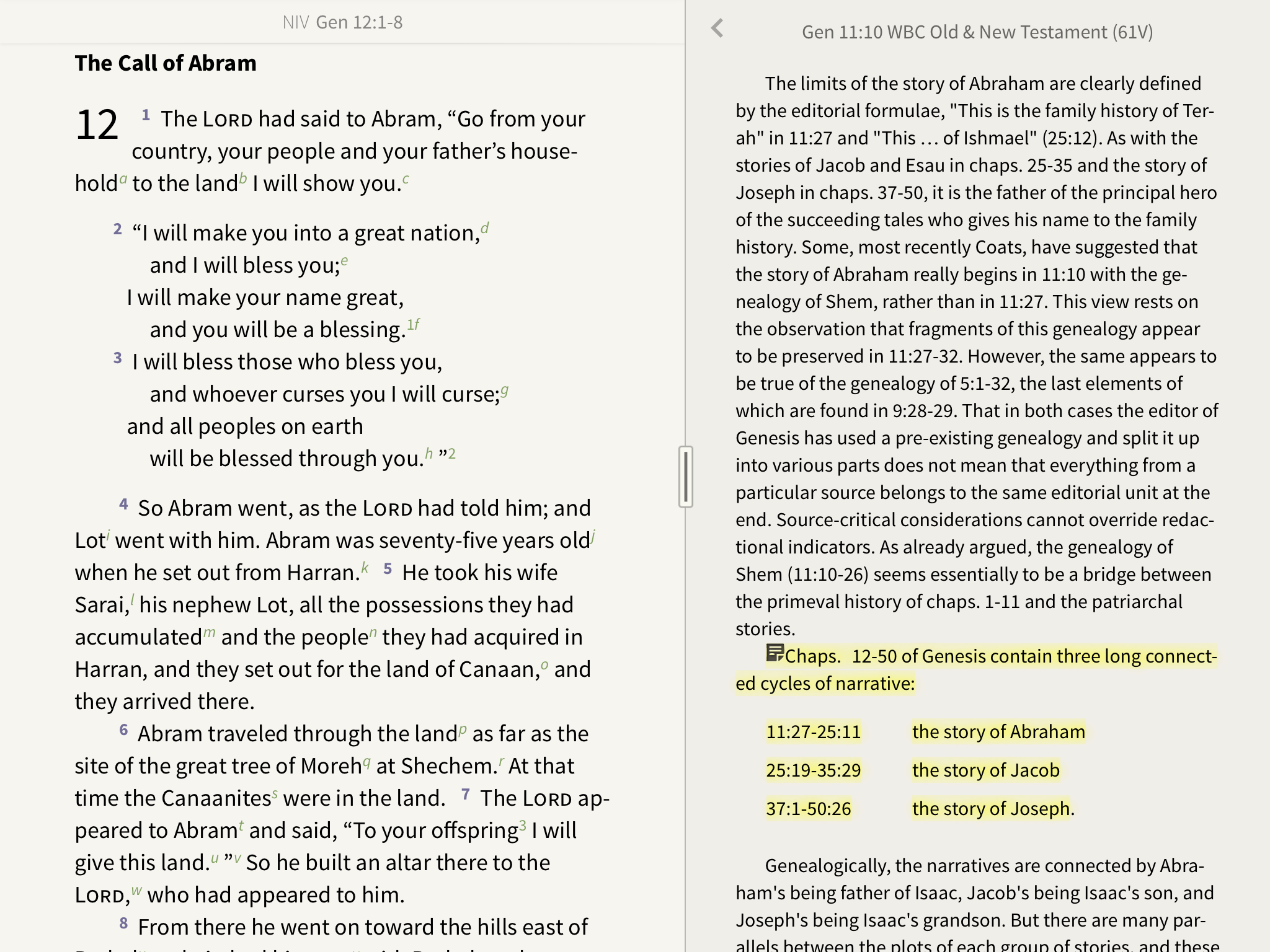 Notes and highlights in the Word Biblical Commentary