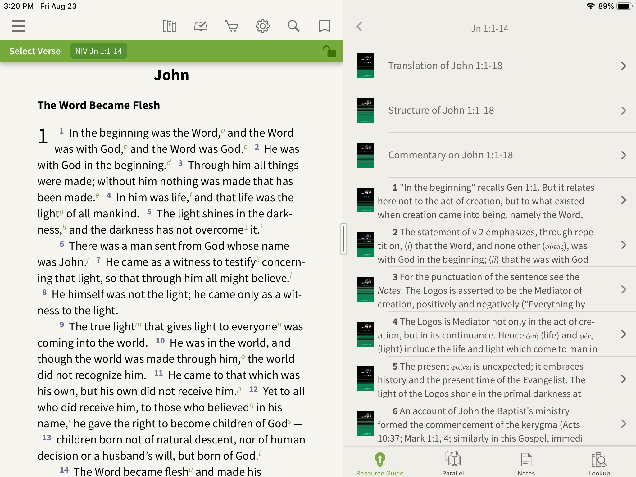 Word Biblical Commentary in Olive Tree