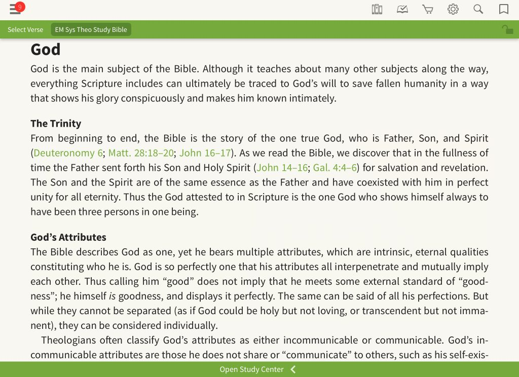 ESV Systematic Theology Study Bible article God