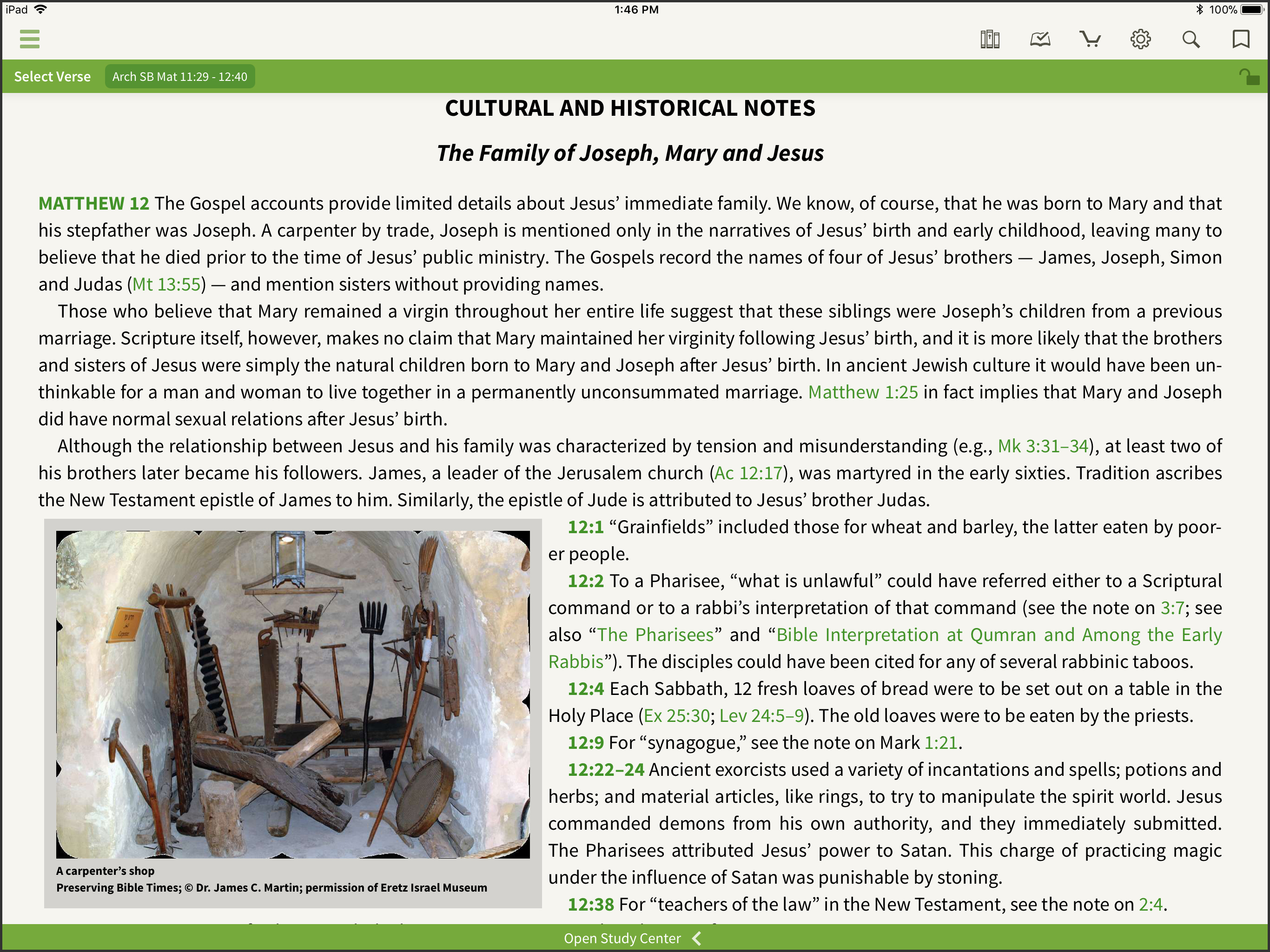 olive tree bible app screenshot