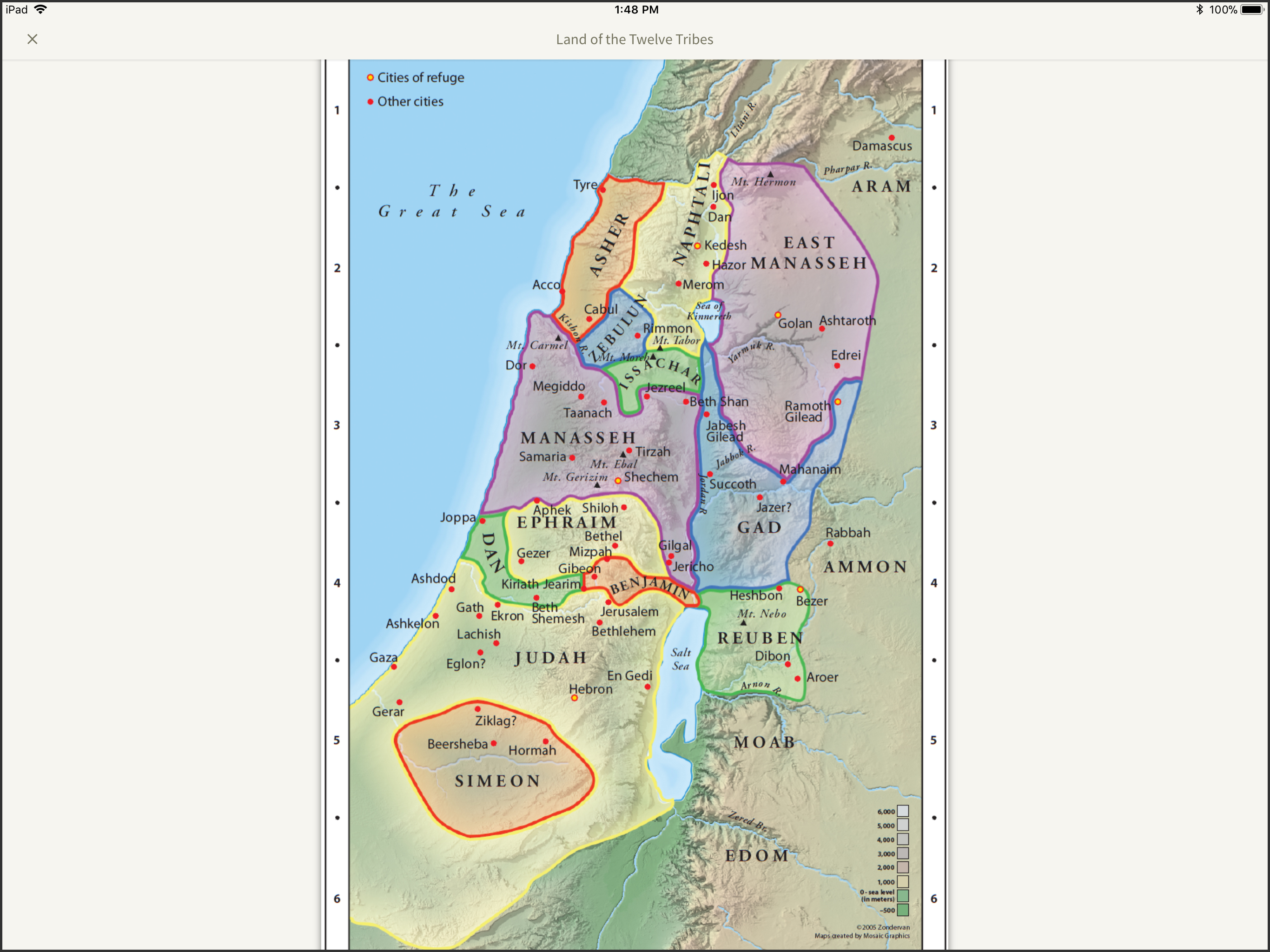 archaeology study bible land of the twelve tribes