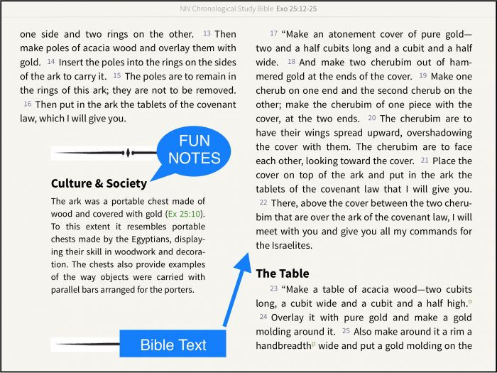 study bible features