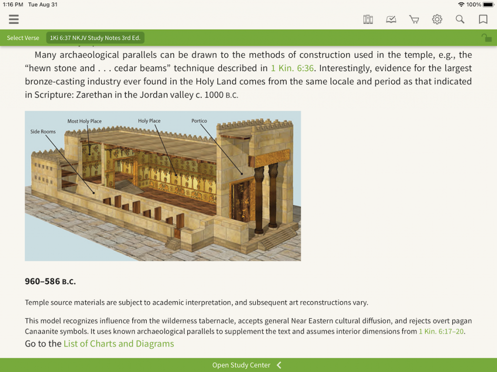 NKJV Study Notes Solomon Temple