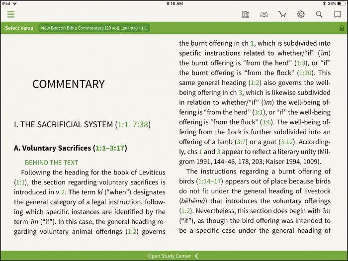 New Beacon Bible Commentary Commentary