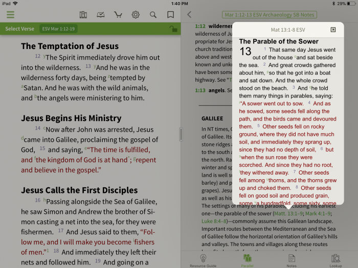 esv archaeology study bible linked verse references