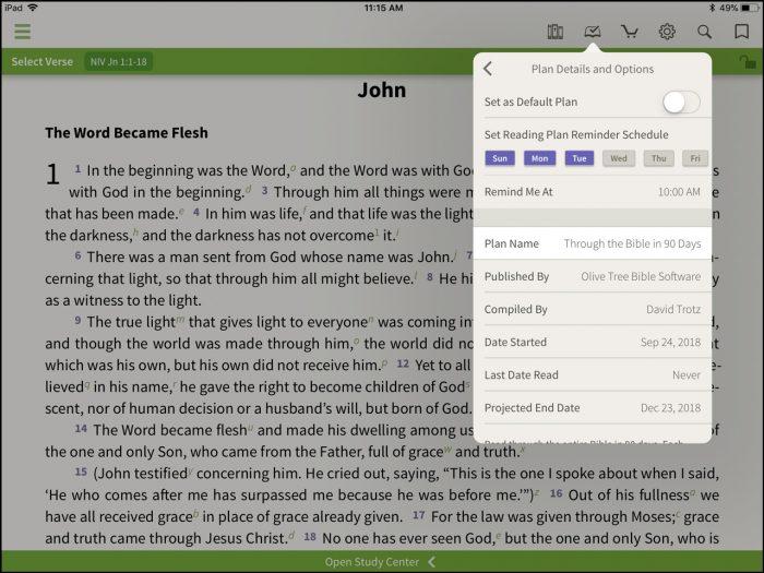 bible reading reminder