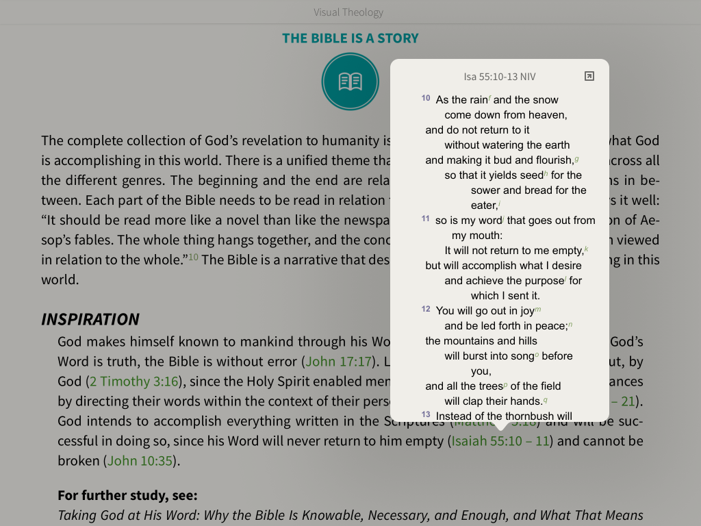 the Bible is a story reference links