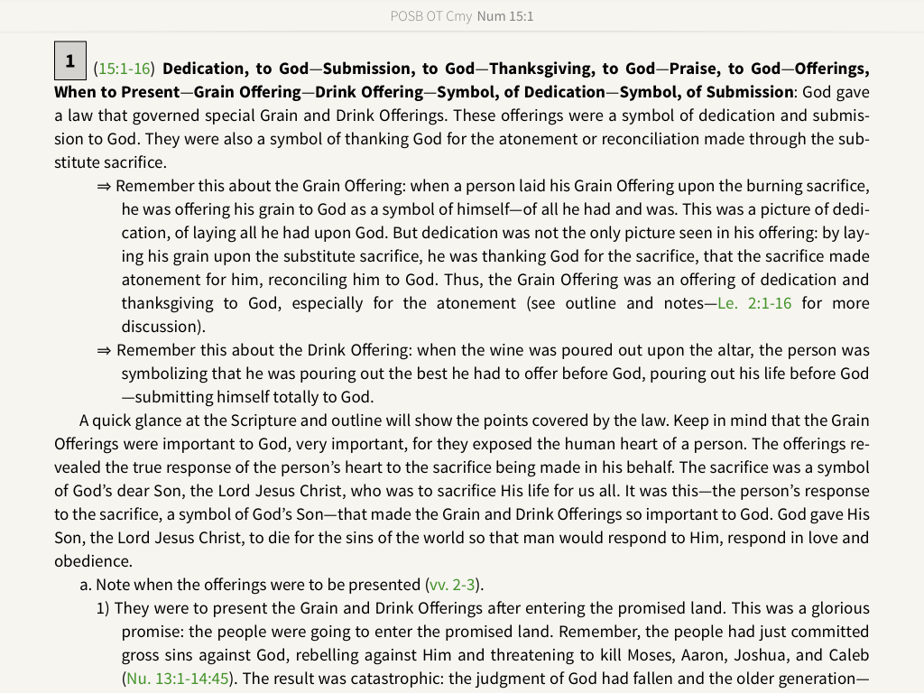 POSB Preachers outline and sermon bible commentary notes