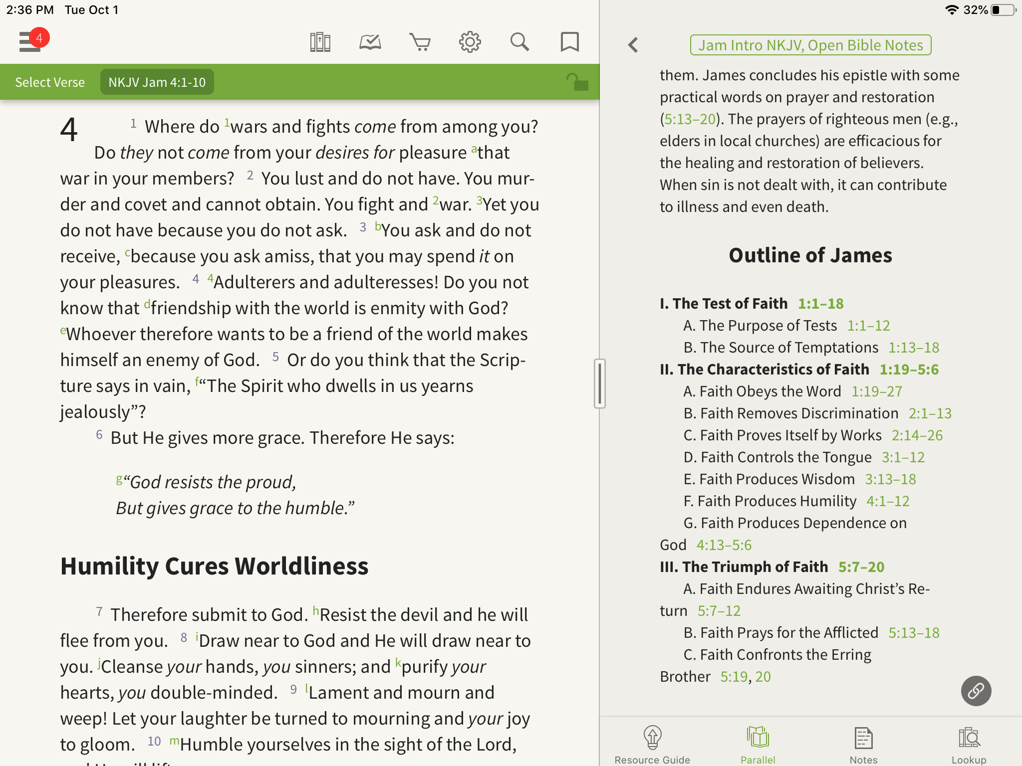 Bible outlines Open Bible