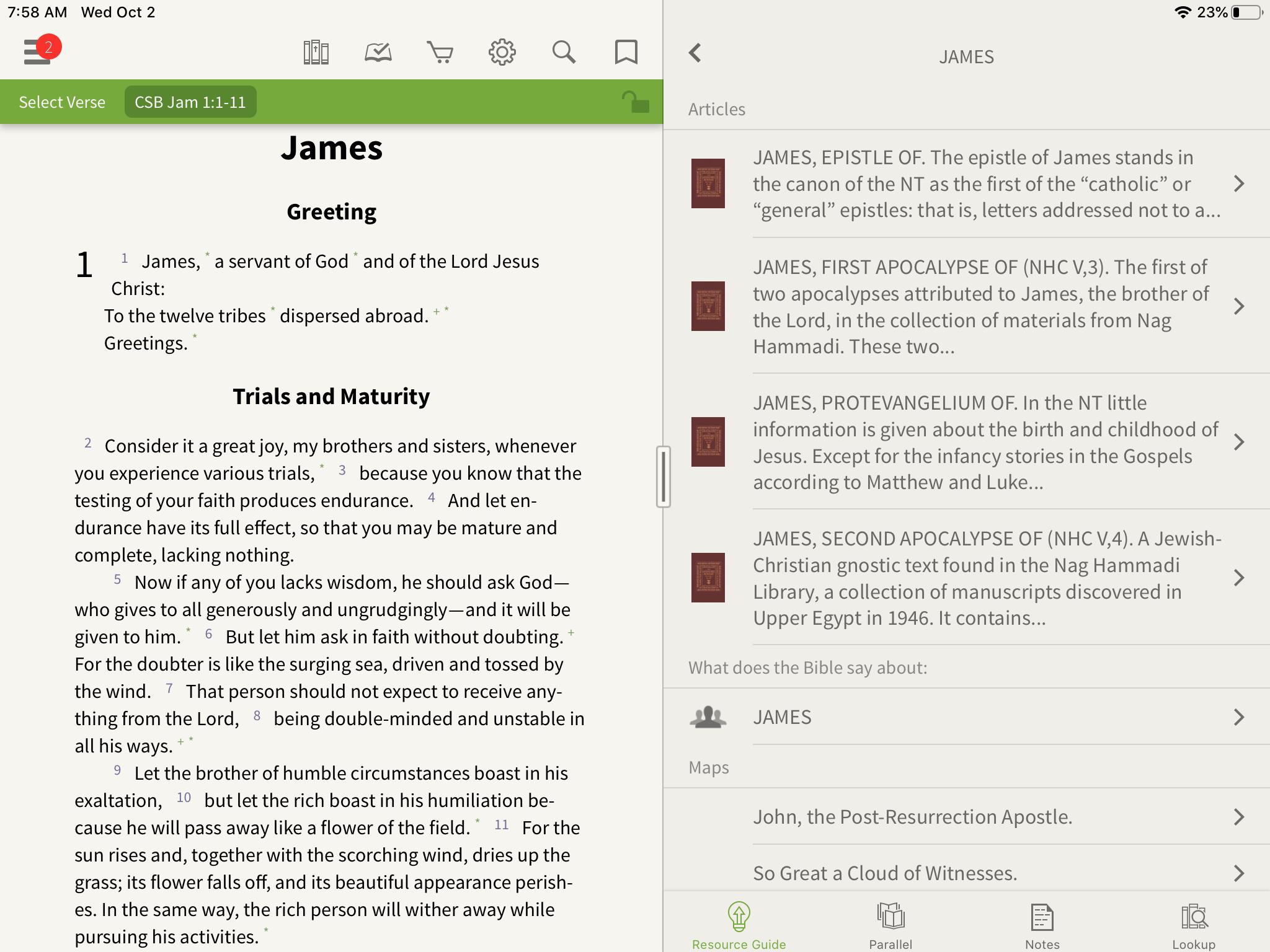 James anchor bible dictionary