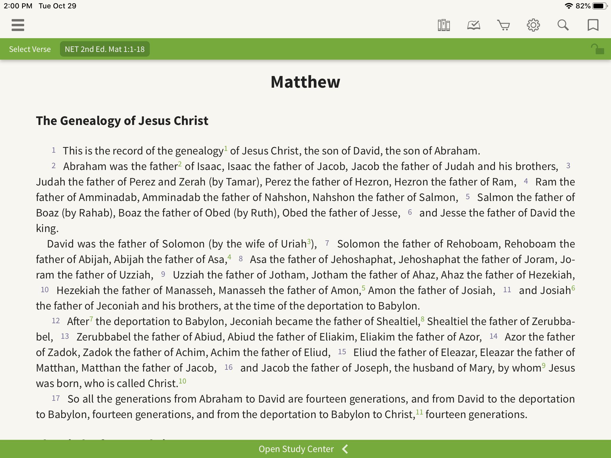 NET Bible Matthew