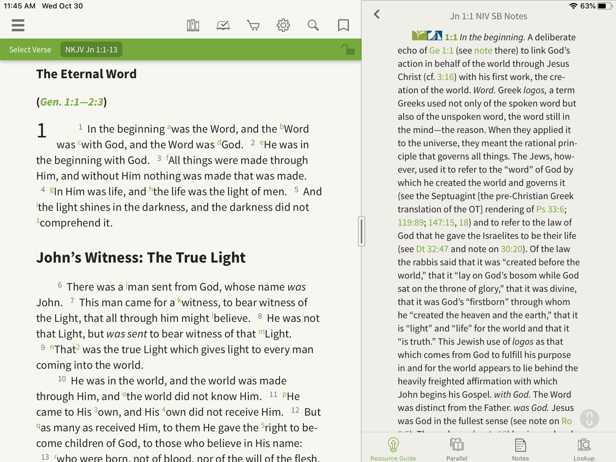 NIV study bible notes nkjv