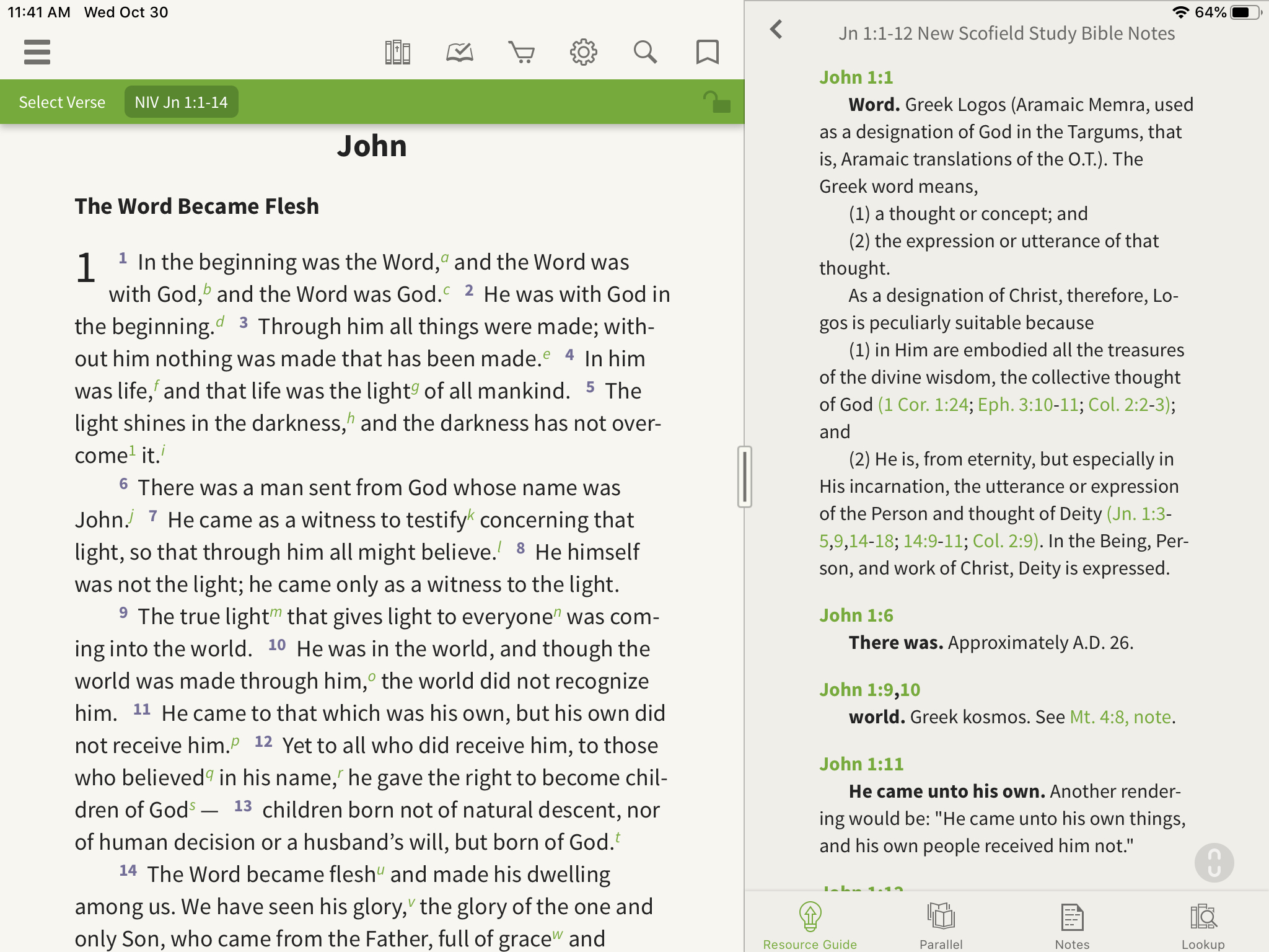 New Scofield Study Bible Notes split tab