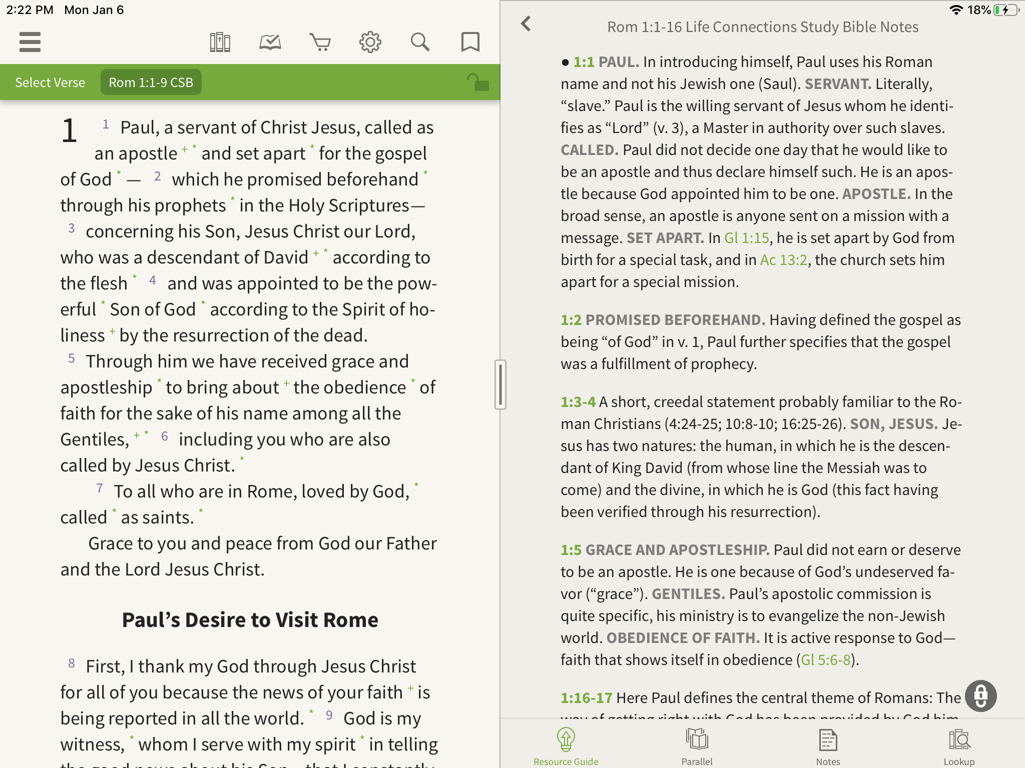 life connections study bible notes romans