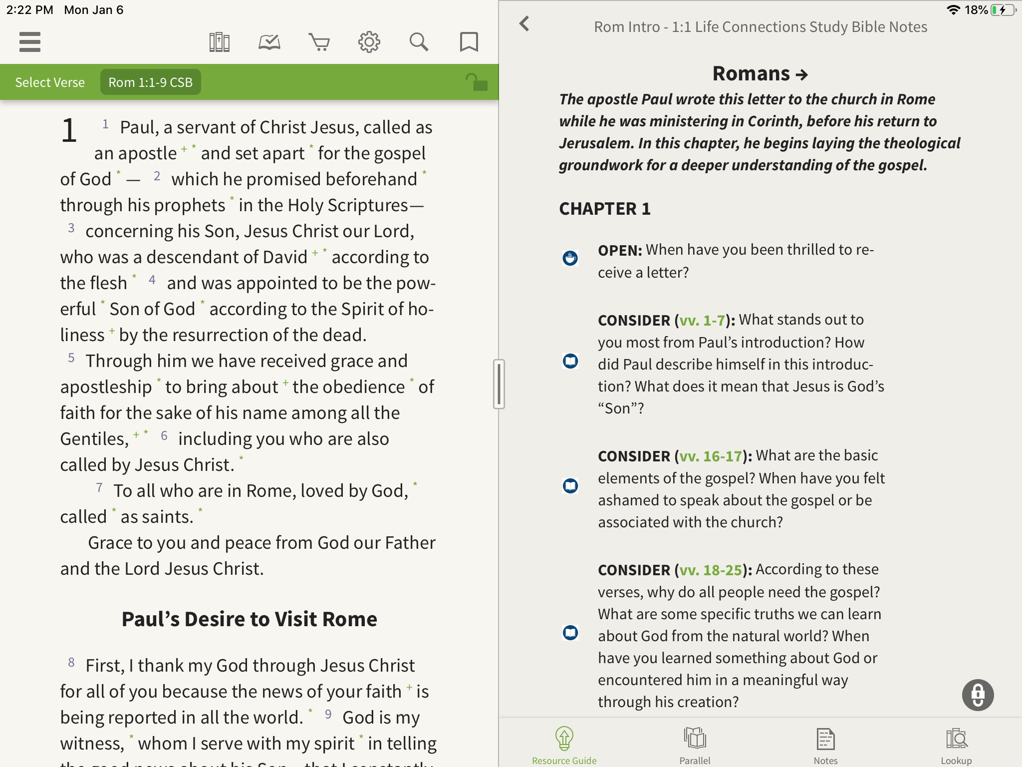 study bible notes romans questions