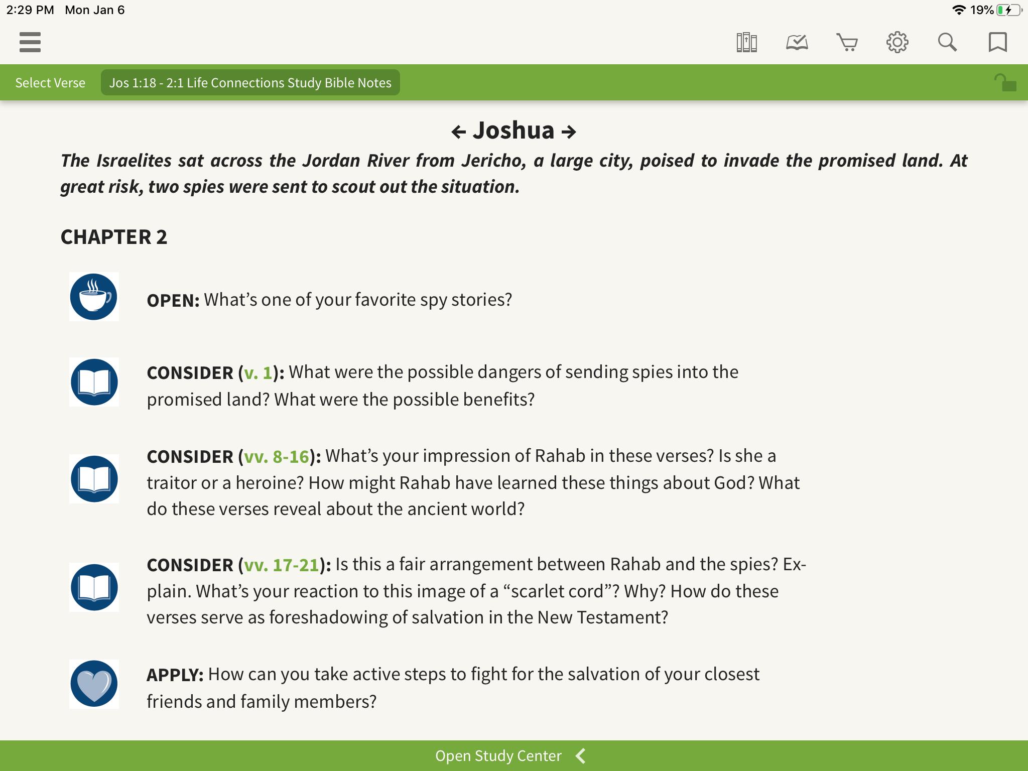 Joshua questions