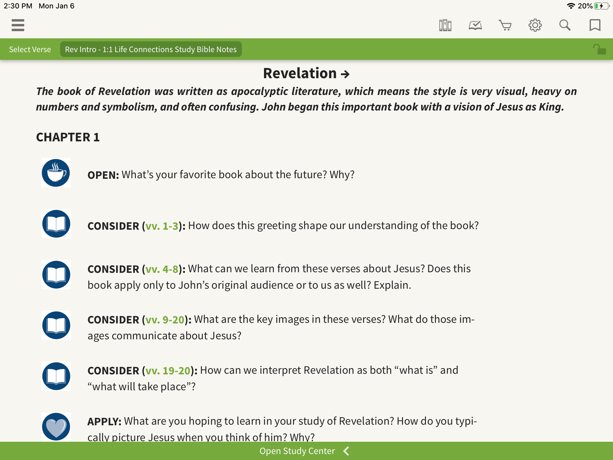 study bible questions revelation