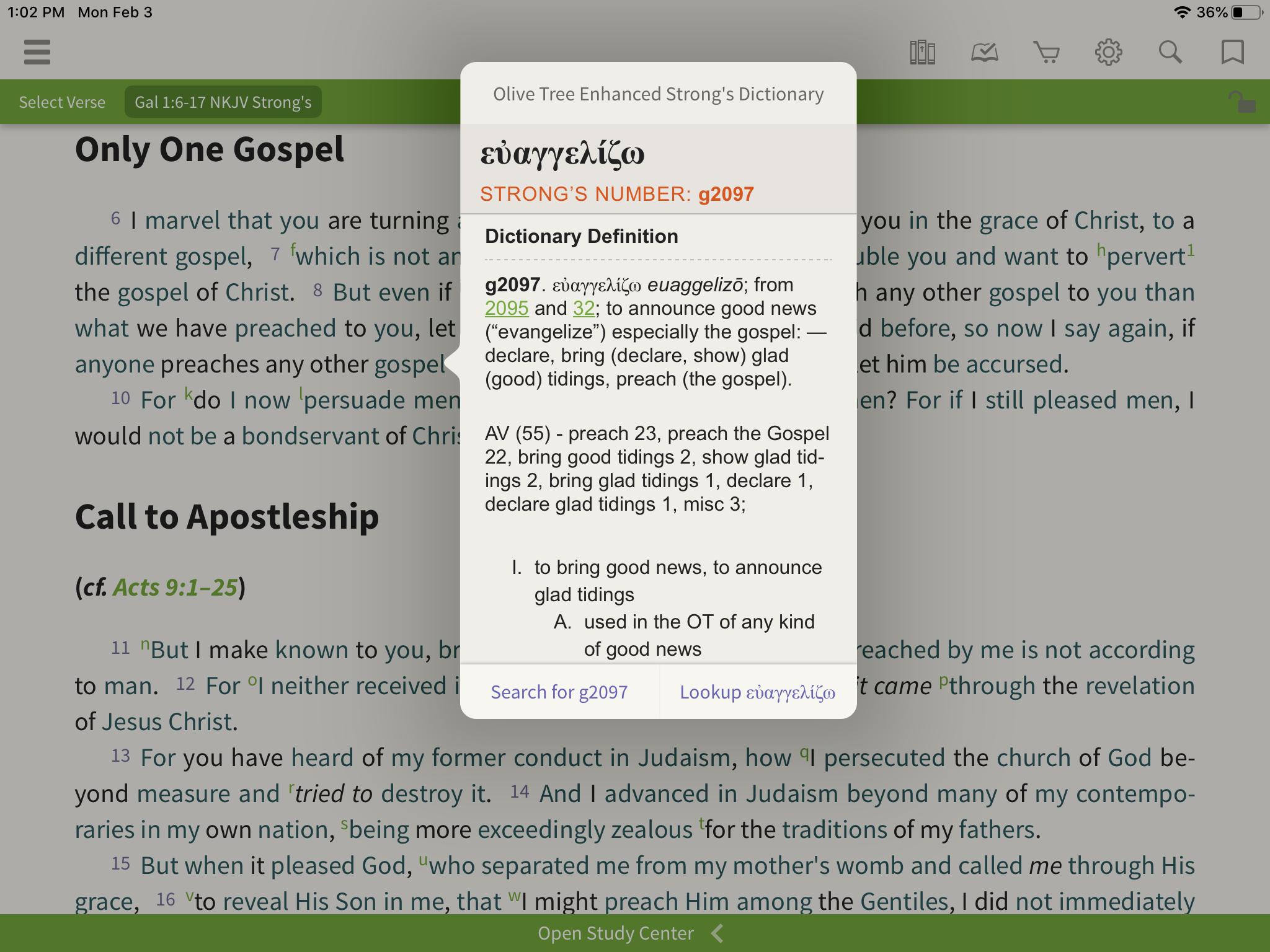 NKJV Word Study Bible Strong's
