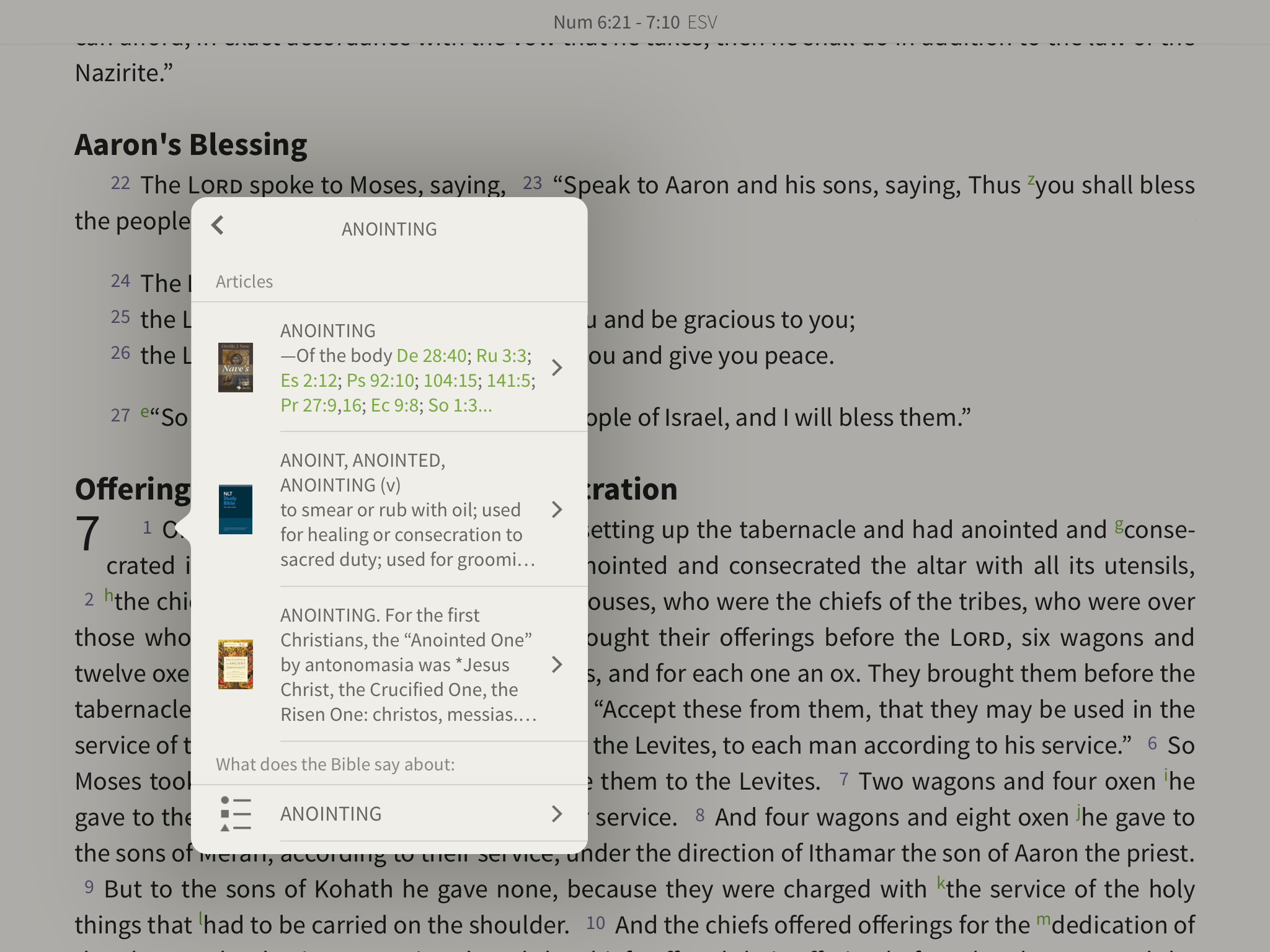 Searching anointing articles in Encyclopedia of Ancient Christianity