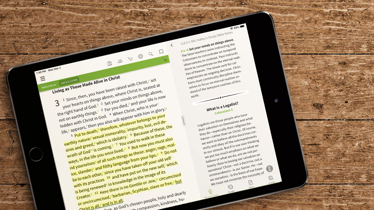 Colossians 3 - NIV Halley's Study Bible Olive Tree