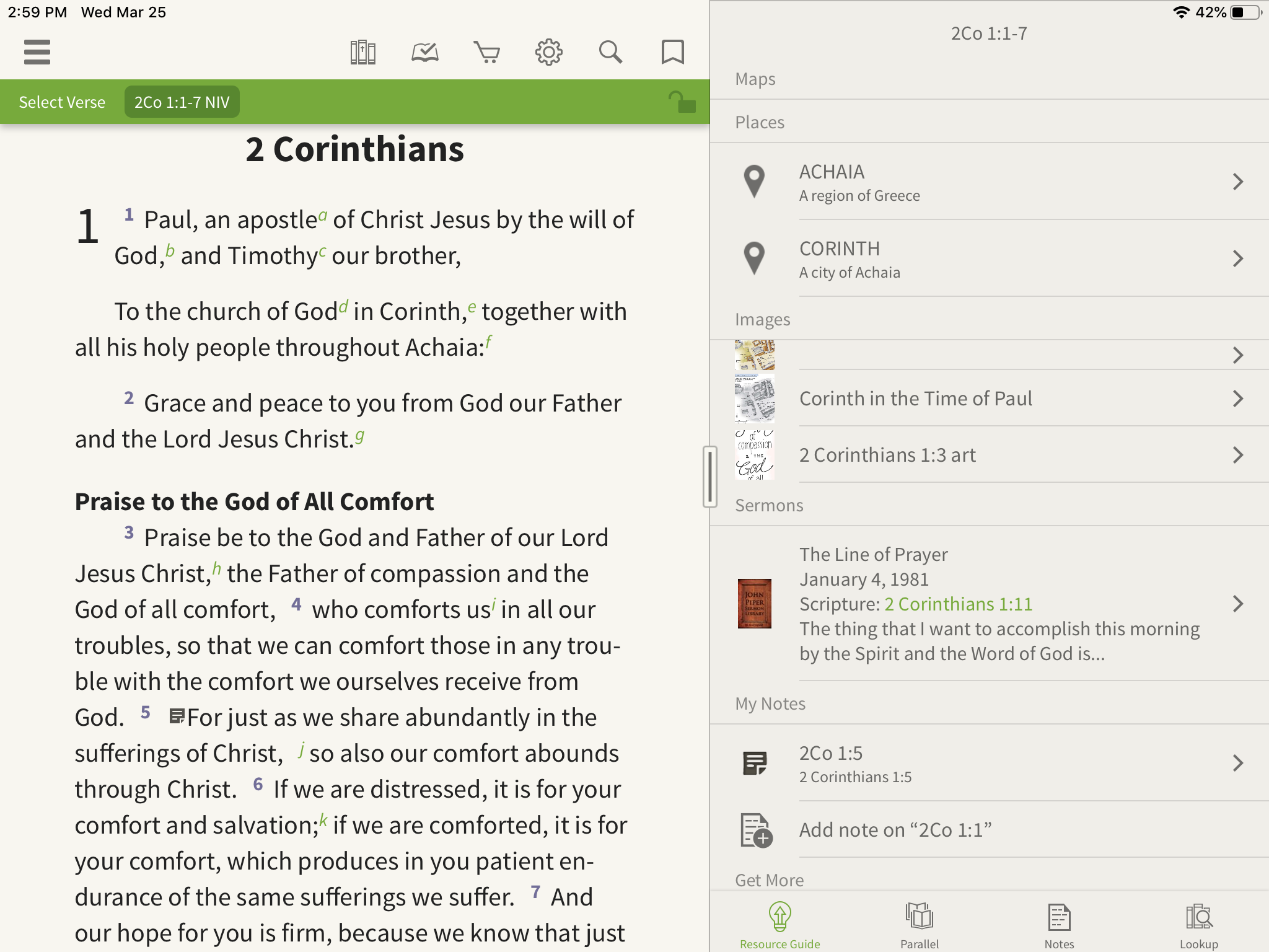 sermons in the olive tree resource guide
