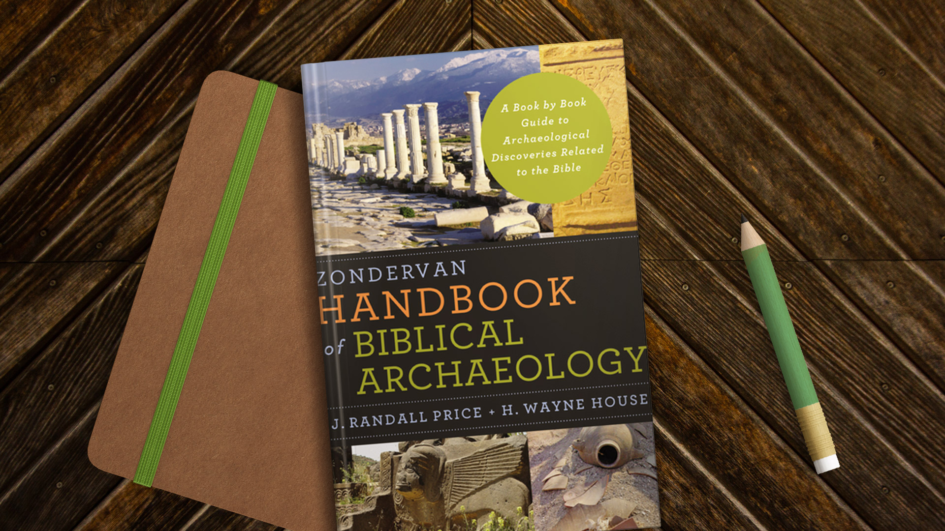 Book cover Zondervan Handbook of Biblical Archaeology on desk