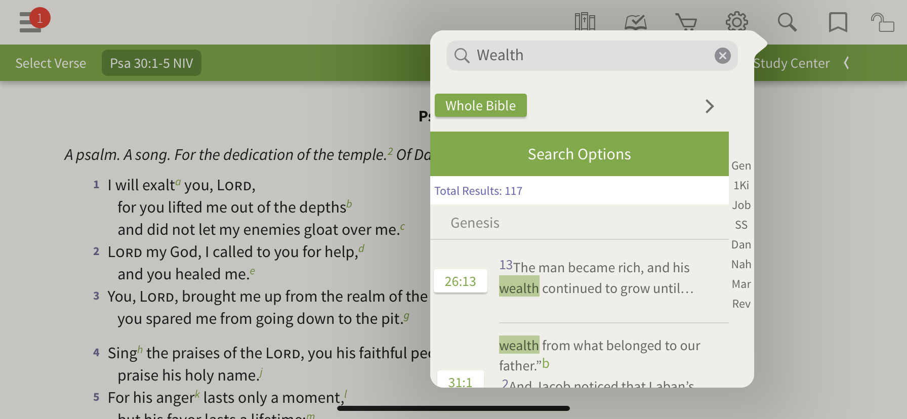 What the Bible says about wealth app