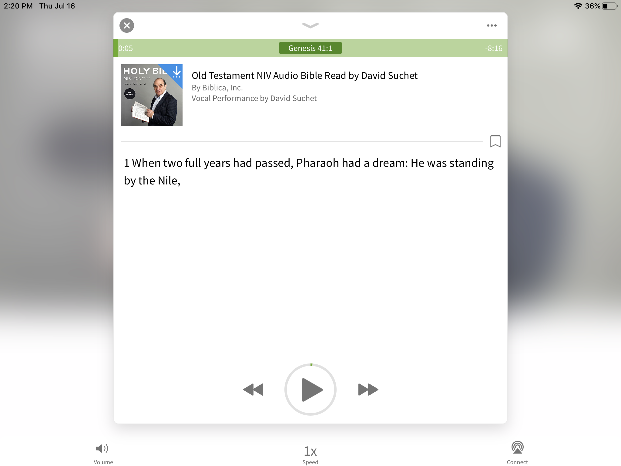 David Suchet NIV audio Bible open
