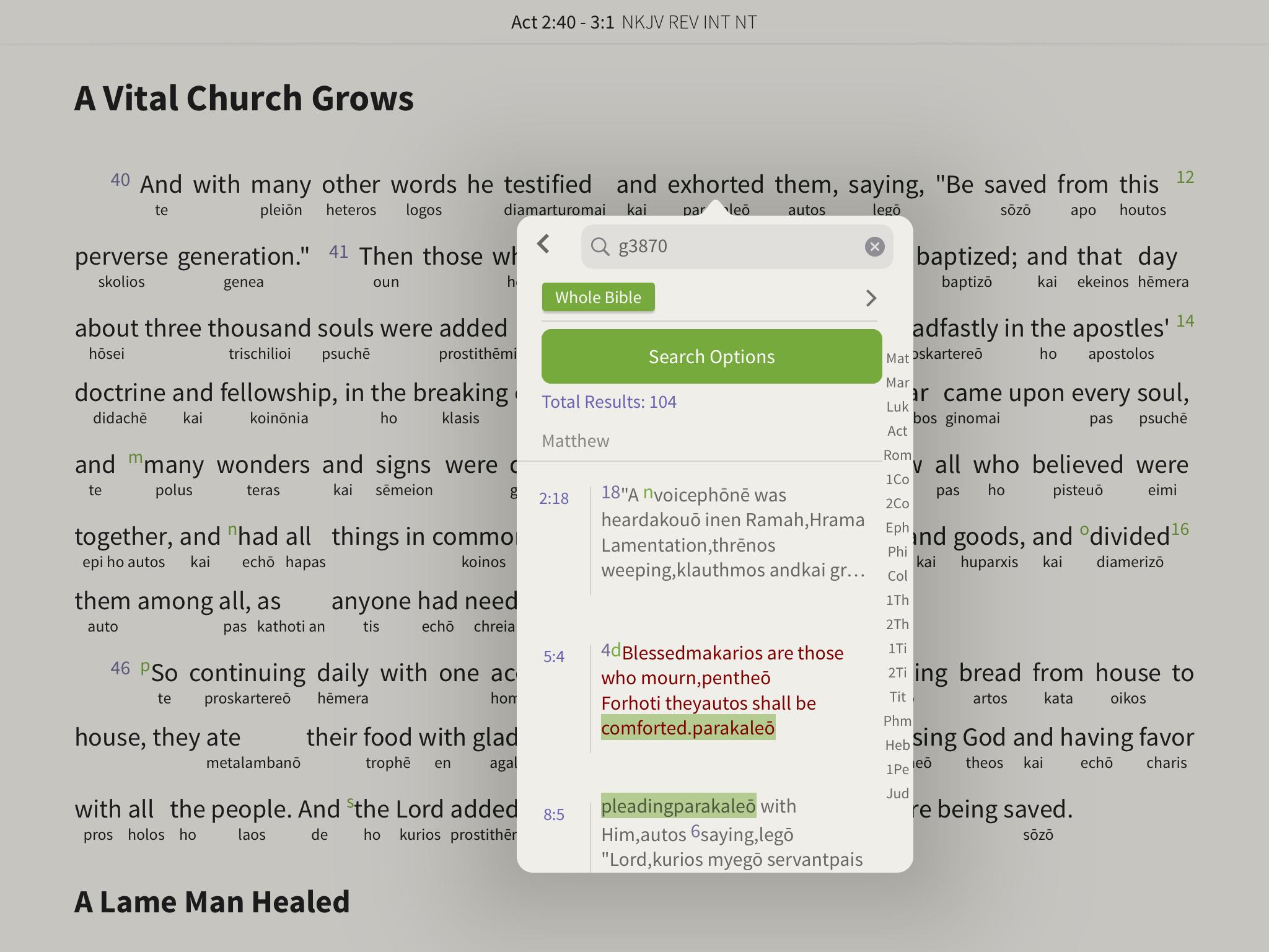 nkjv reverse interlinear strongs search