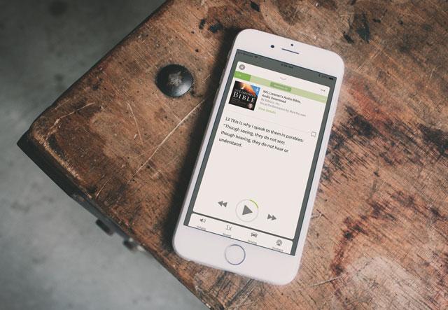 Olive Tree Bible App phone audio