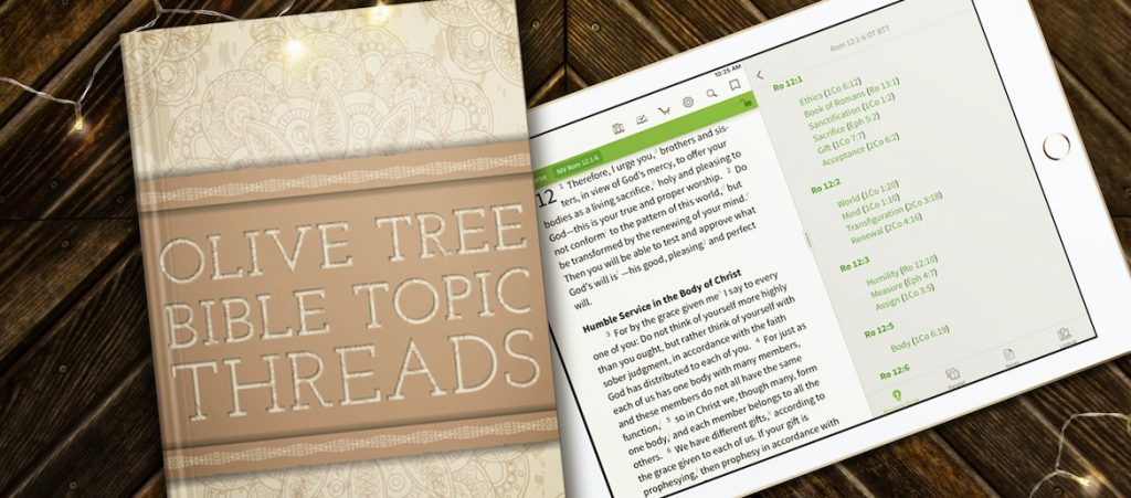 olive tree bible topic threads self-control